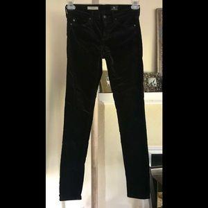 AG Adriano Goldschmied Skinny velvet jeans legging